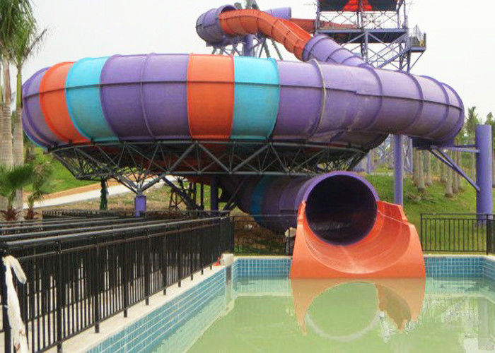 Super Bowl Water Slide / Theme Water Park Amusement Slide For Large Swimming Pools