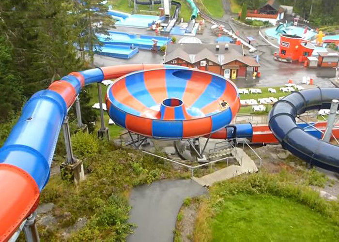 Space Bowl Spiral Fiberglass Water Slide for Amusement Park