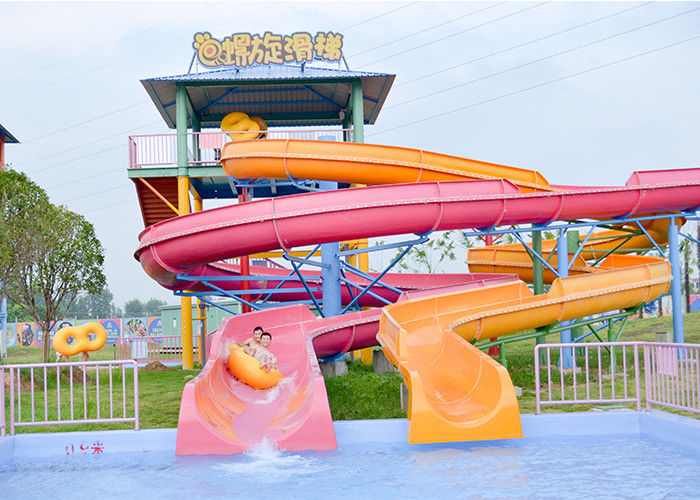 Outdoor Spiral Slide Water Pool Slide Playground For Amusement Park