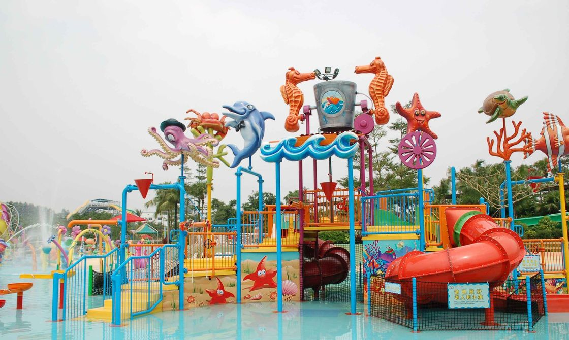 Attractive Water Park Equipment Marine Theme Style Construction Play House