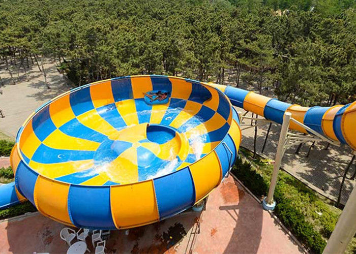 Colorful Super Bowl Water Slide Playground / Fiberglass Water Slide Water Park Project
