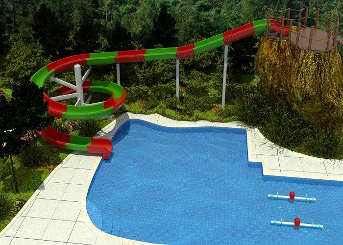 2 Person Outdoor Swimming Pool Slides For Family Resort / Adventure Park Water Slide