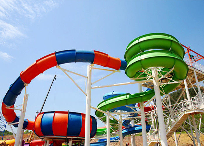 Water Park Slide For Family and Hotel Resort / Aqua Park Swimming Pool Equipment