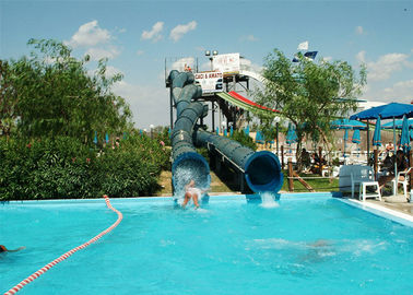 China Eco - Friendly Custom Water Slides Funny Amusement Tube Slide 12m Heigth factory