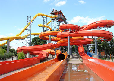 China Safety Commercial Water Slides Water Play Fiberglass Slide ISO Certified factory