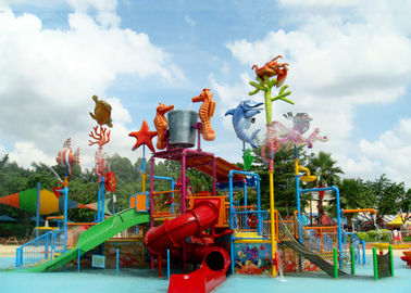 China Mini Interactive Lanes Water Slide Construction Water Park Swimming Pool Equipment factory