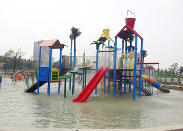 China Swimming Pool Water Park Construction , 6.5 Meter Aquatic Playground Equipment factory