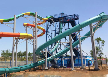 China Custom Magic Aqualoop Water Slide Outdoor Mix Color Fiberglass Equipment factory