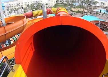 China Commercial Tube Spiral Water Slide , Fiberglass Theme Park Water Slides Customized factory