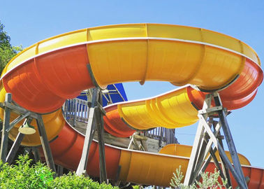 China Thrilling Giant Boomerang Water Slide 18.75m Height factory