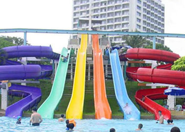 China High Speed Water Slide , Aqua Park Swimming Pool Kids / Adult Body Water Slide factory