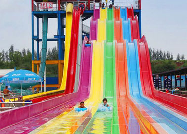 China Rainbow Color FRP Aqua Racer Water Slide Youth Adults Outdoor Waterslide factory