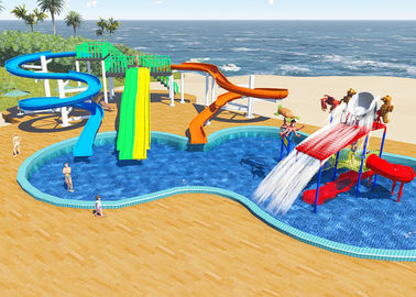 China Swimming Pool Water Park Design / Constrction , Holiday Resort Water Slide Design factory