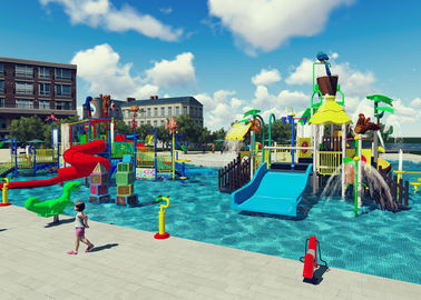 China Swimming Pool Project Aqua Park Design Interactive Spray Park Equipment factory