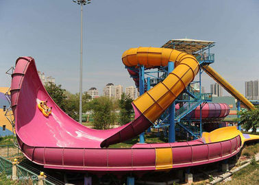 China Boomerang Custom Water Slides , Aqua Theme Park Fun Water Slides Toys For Adults factory