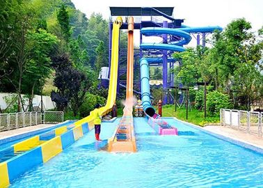 China Customized Size High Speed Water Slide / Outdoor Water Park Equipment factory