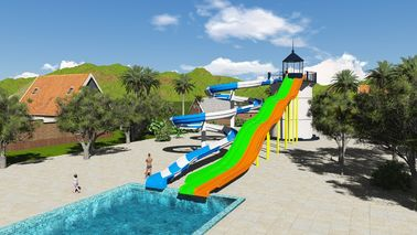 China SGS Water Park Design Fiberglass Sports Combination Pool Water Slide factory