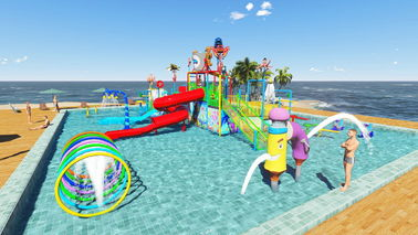China Commercial Kid Water Park Design Fiberglass Pool Play Water Equipment factory
