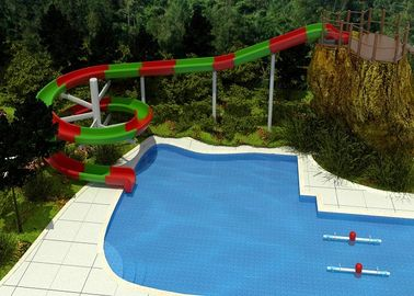 China 2 Person Outdoor Swimming Pool Slides For Family Resort / Adventure Park Water Slide factory