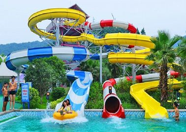 China Spiral Water Slides For Holiday Resort Water Park Equipment Combination Water Slide factory