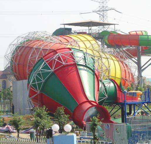 Mini Tornado Water Slide For Aqua Park , Customized Color Fiberglass Kids Playground Slide