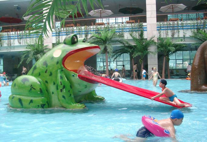 Frog Water Slide Kids Water Playground Equipment For Swimming Pool
