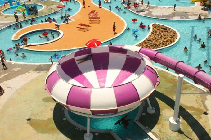 Water Play Amusement Super Space Bowl Slide For Aqua Park 1 Year Warranty