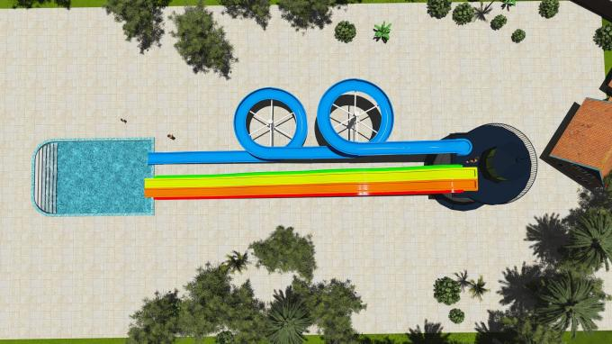 SGS Water Park Design Fiberglass Sports Combination Pool Water Slide