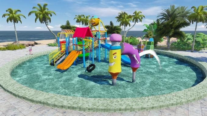 Commercial Kid Water Park Design Fiberglass Pool Play Water Equipment