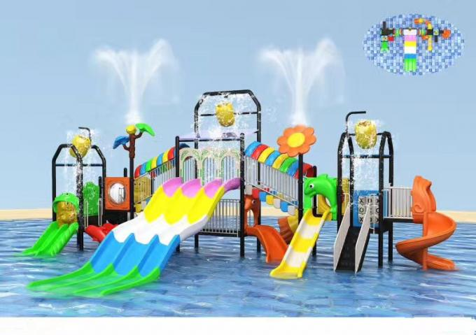 Summer Child Outdoor Water Park Equipment For 10-30 People / Water Park Playground