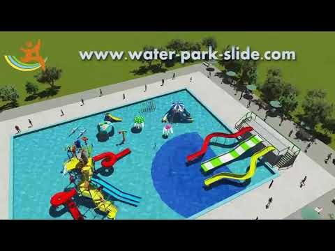 Water Park Equipment Marine Theme Style Construction Play House Attractive
