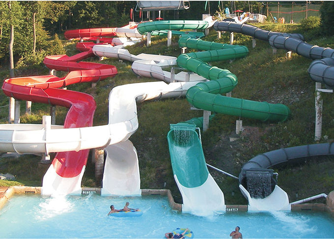 Safety Commercial Water Slides Water Play Fiberglass Slide ISO Certified