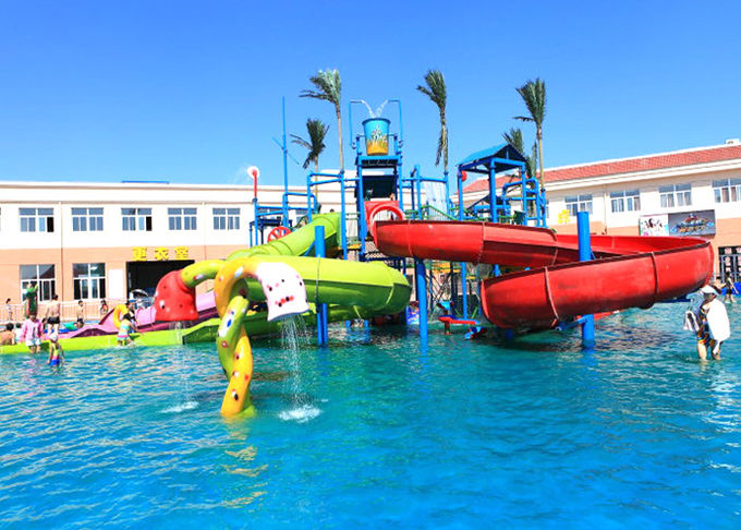 Indoor / Outdoor Water Park Construction Customized Kids Fun Amusement Projects
