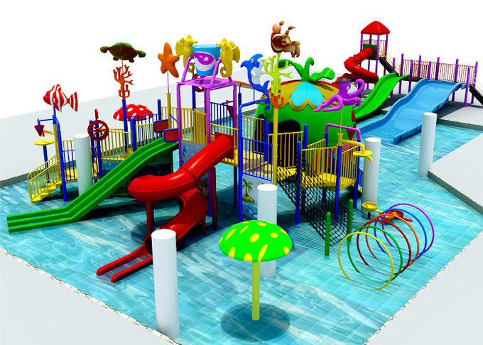 Swimming Pool Water Park Construction , 6.5 Meter Aquatic Playground Equipment