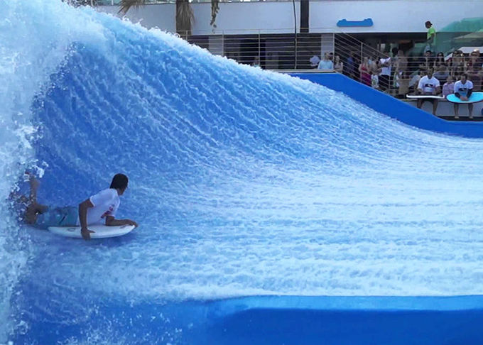 Aqua Water Park Surf N Slide Blue Skateboarding Exciting Experience 0