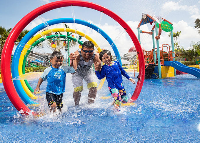 Kids Rainbow Door Aqua Play, Spray Aqua Park Equipment, Fountains Play Structure
