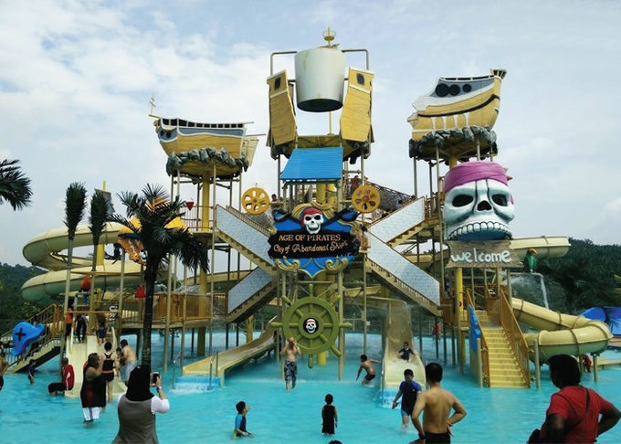 Summer Outdoor Water Slide Construction Aqua Park Water House Design Build