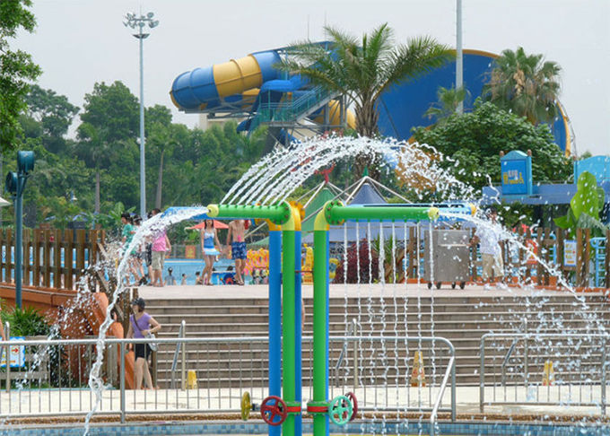 Eco - Friendly Spray Park Equipment Attractive Flower Flowing For All Ages