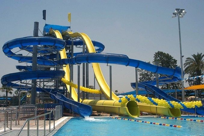 High Speed Water Slide , Aqua Park Swimming Pool Kids / Adult Body Water Slide