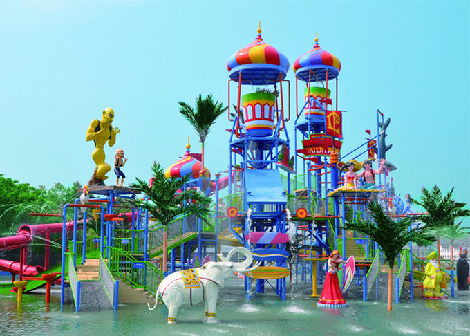 Outside Tornado Water Slide Playground For Amusement 1 Year Wanrranty