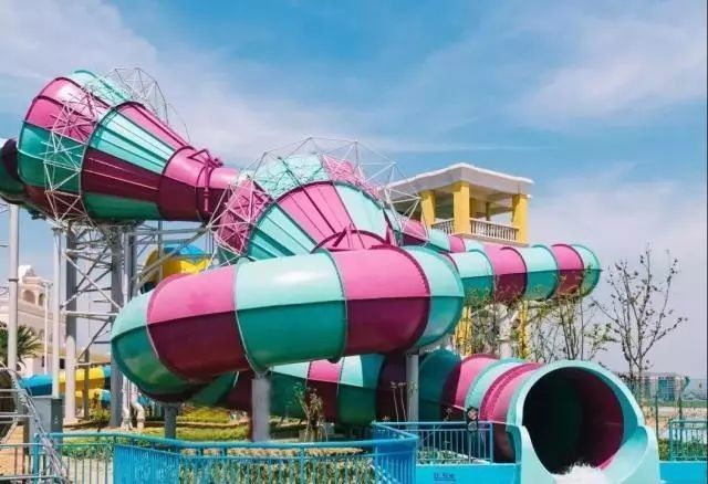 Super Boomerang Water Slide Playground For Amusement Park 1 Year Wanrranty