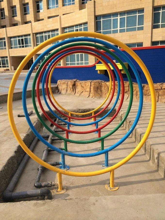 Water Spray Park Rainbow Circle Children Water Playground Colorful ISO CE SGS