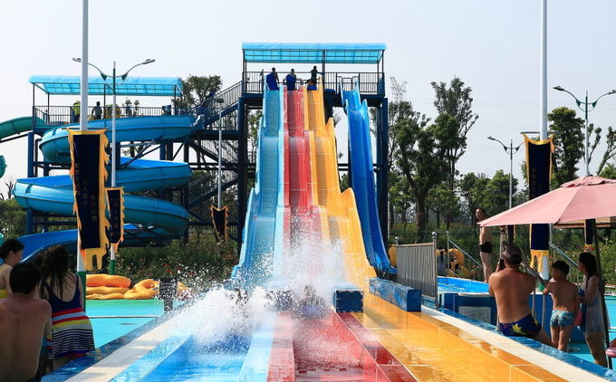 Customized Size High Speed Water Slide / Water Park Equipment