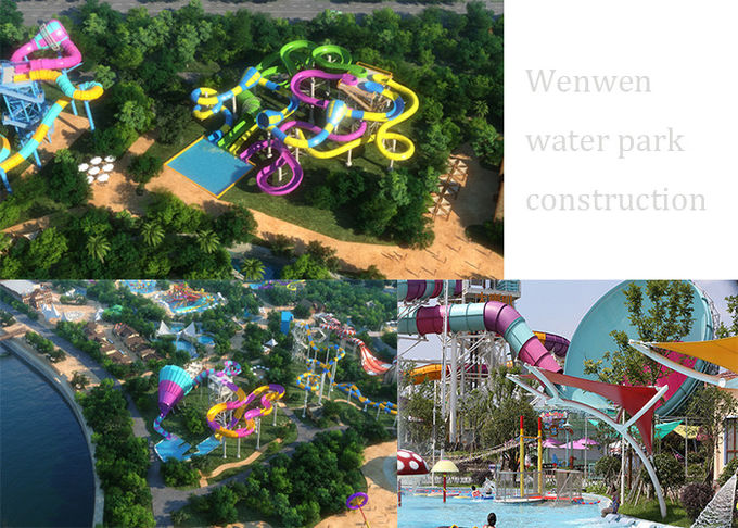 Customized Color Family Boomerang Water Slide 1
